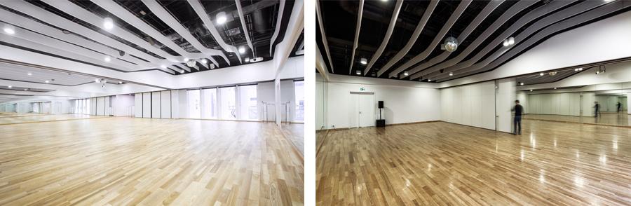 Раздвижные перегородки в танцевальной студии