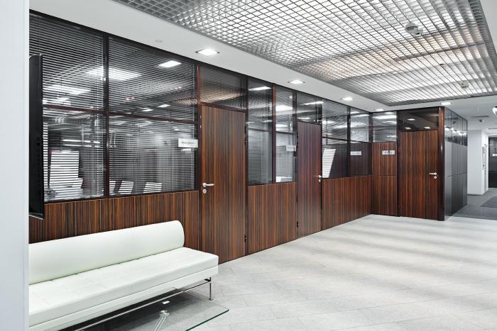 Комбинированные звукоизоляционные перегородки в офисе