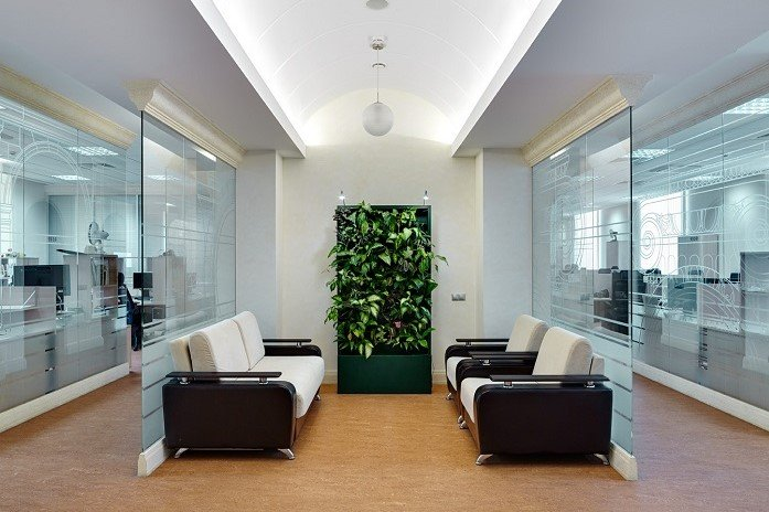 Трансформируемые перегородки в офисе