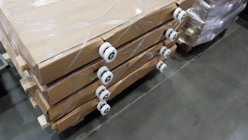 одготовка к монтажу раздвижных перегородок, упаковка